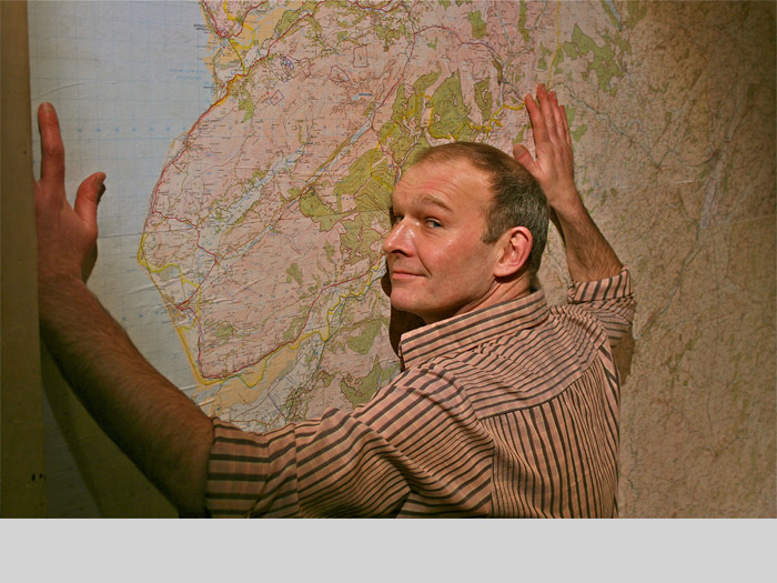 Mike Parker and his map wall